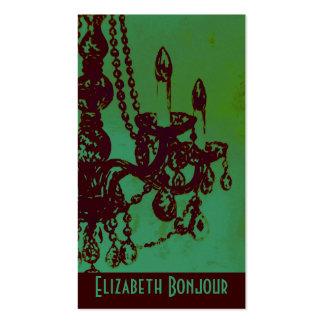Cartão de visita do do encanto do candelabro