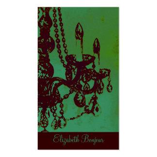 Cartão de visita do ~ do encanto do candelabro