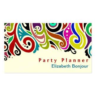 Cartão de visita do ~ do partido