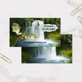 Cartão de visita do dragão de água do Shaman da