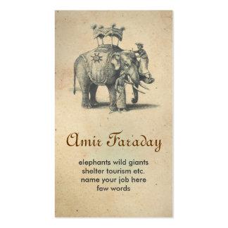 cartão de visita do elefante