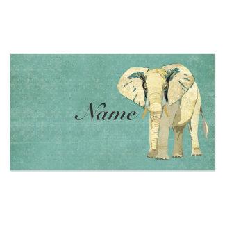Cartão de visita do elefante branco