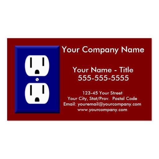 Cartão de visita do eletricista 5
