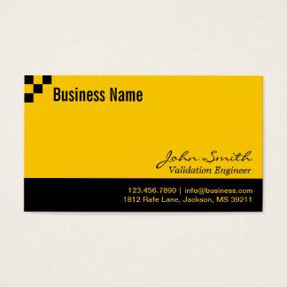 Cartão de visita do engenheiro da validação do