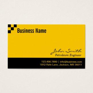 Cartão de visita do engenheiro do petróleo do