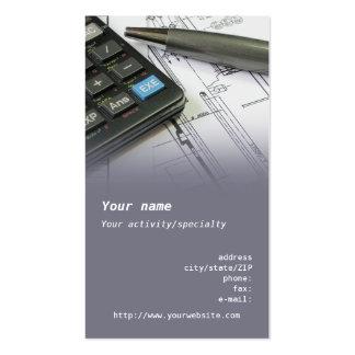 Cartão de visita do engenheiro mecânico