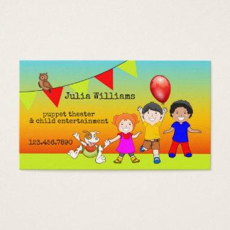 Cartão de visita do entretenimento da criança do