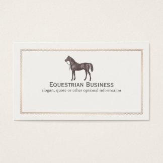 Cartão de visita do Equestrian do cavalo de Brown