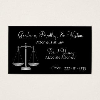 Cartão de visita do escritório de advogados