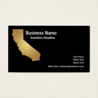 Cartão de visita do estado de Califórnia do ouro
