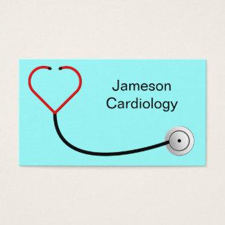 Cartão de visita do estetoscópio do coração