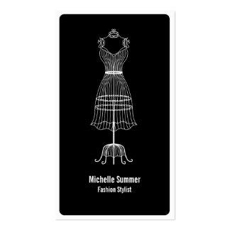 Cartão de visita do estilista da forma