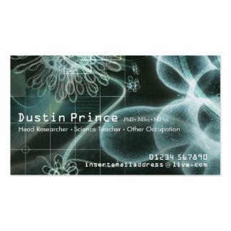 Cartão de visita do estilo da ciência