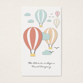 Cartão de visita do estilo de Papercut do balão de