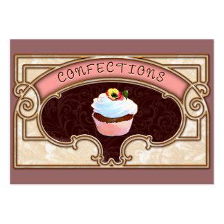 Cartão de visita do estilo do vintage dos doces do