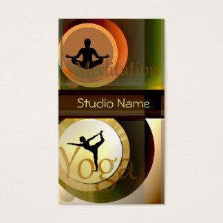 Cartão de visita do estúdio da meditação da ioga