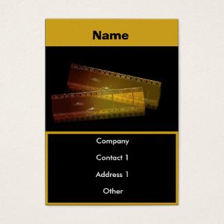 cartão de visita do filme