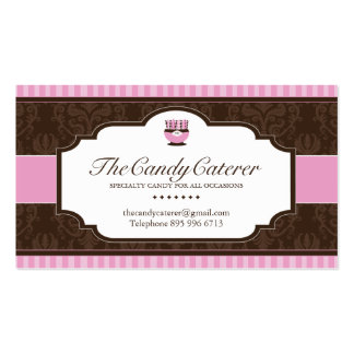 Cartão de visita do fornecedor dos doces