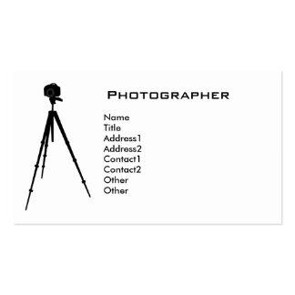 Cartão de visita do fotógrafo