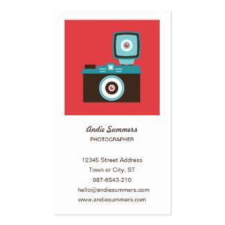 Cartão de visita do fotógrafo da câmera do brinque