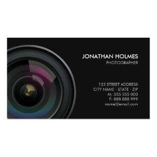 Cartão de visita do fotógrafo da objectiva