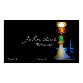 Cartão de visita do fotógrafo do casamento com noi