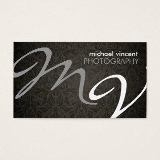 Cartão de visita do fotógrafo do monograma do