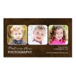 Cartão de visita do fotógrafo do retrato de Brown