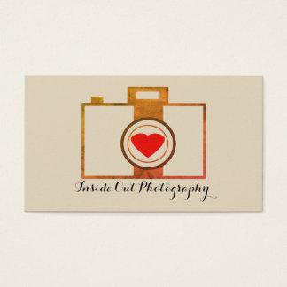 Cartão de visita do fotógrafo do vintage