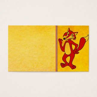 Cartão de visita do Fox vermelho