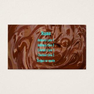 Cartão de visita do Fudge de chocolate