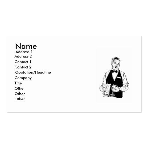 Cartão de visita do garçom