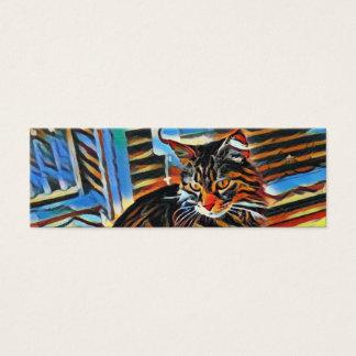Cartão de visita do gatinho do arco-íris