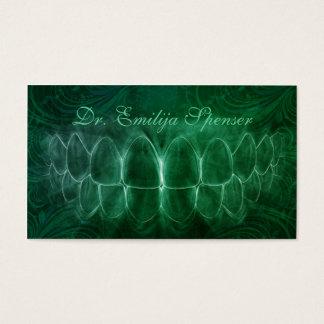 Cartão de visita do general Dentista Verde Curva