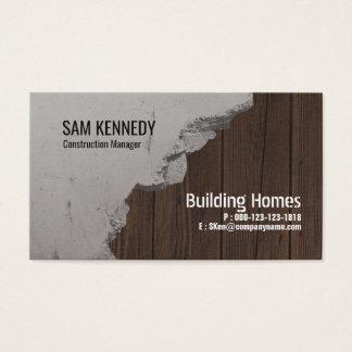 Cartão de visita do gerente do tijolo & da