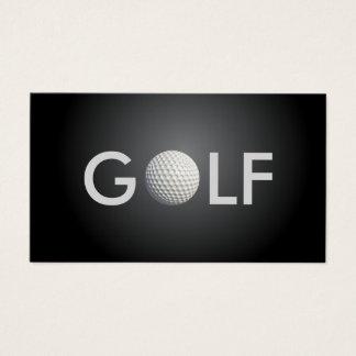Cartão de visita do golfe
