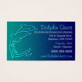 Cartão de visita do golfinho