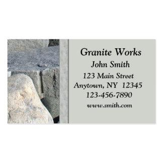 Cartão de visita do granito