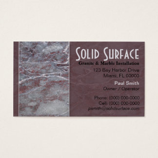 Cartão de visita do granito e do mármore