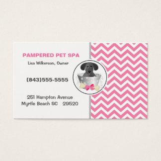 Cartão de visita do Groomer do animal de estimação
