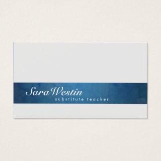 Cartão de visita do Grunge do roteiro do professor