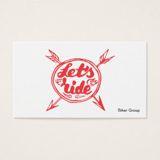 Cartão de visita do grupo do motociclista