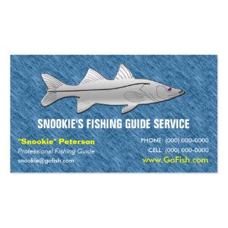 Cartão de visita do guia da pesca