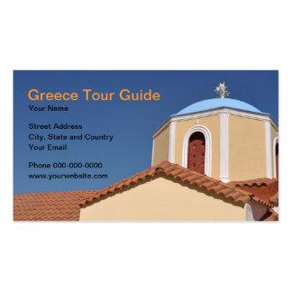 Cartão de visita do guia turística da piscina