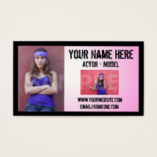 Cartão de visita do Headshot do ator do Grunge