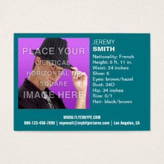 Cartão de visita do Headshot do fulgor da cerceta
