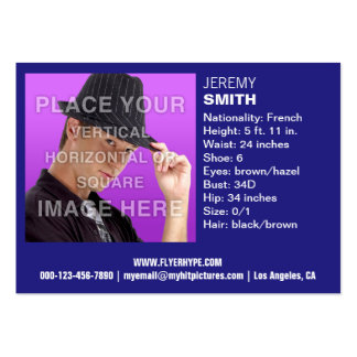 Cartão de visita do Headshot do fulgor dos azuis