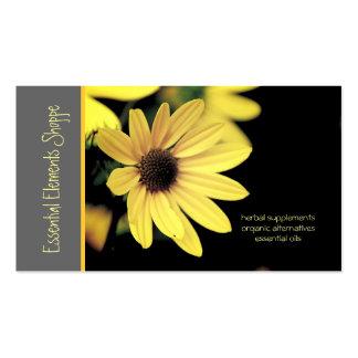 Cartão de visita do Herbalist do girassol