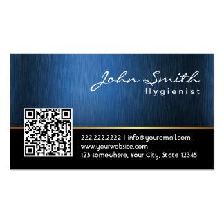 Cartão de visita do higienista do código dos azuis