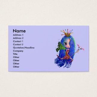 Cartão de visita do higienista do dentista da fada